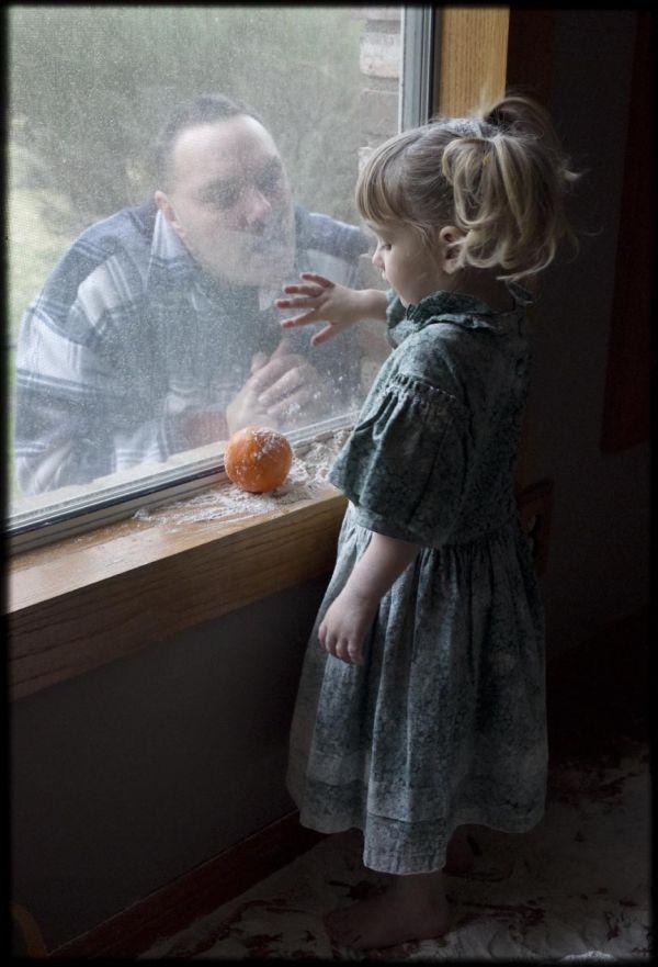 man looks at girl