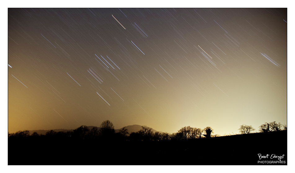 Ciel de nuit et étoilés en filé