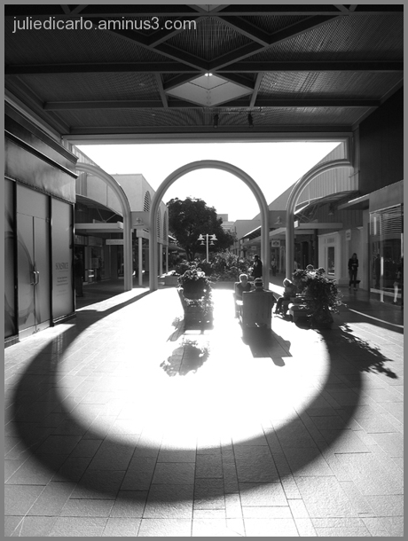 At the center of the shopping center