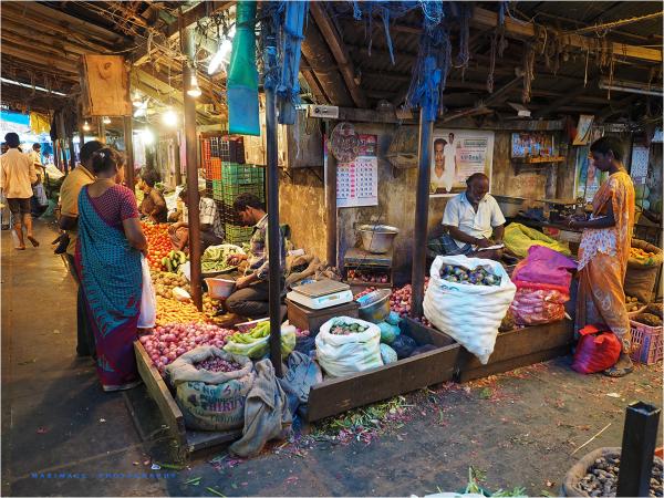 Le marché de Pondichery...