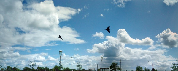 Vulcan bomber aircraft over York University