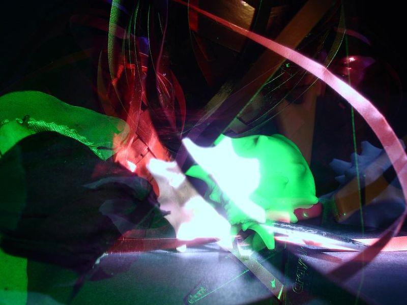 artsy green-light conch shell abstract art photo