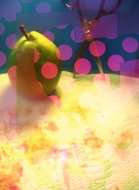 Artsy pear photo