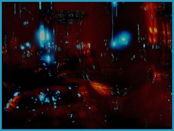 fine art experimental photo of light on wine glass