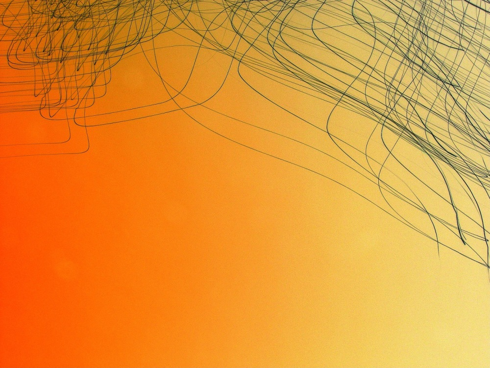 Abstract art photo of tangled lines