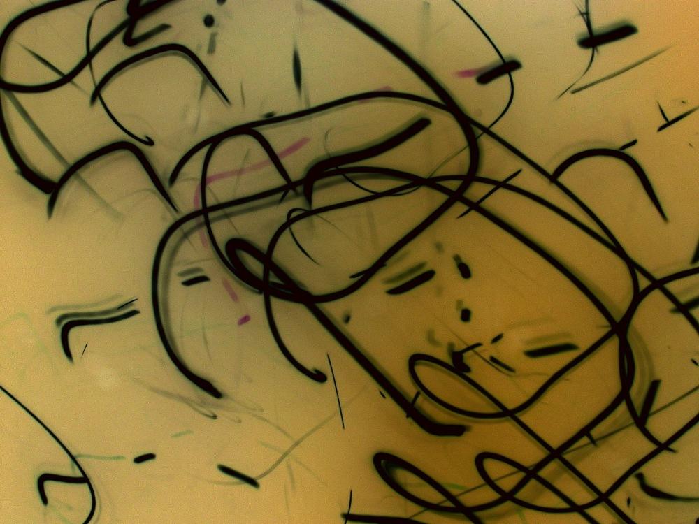 Banana yellow abstract art photo