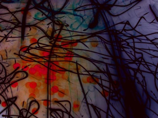 invert light writing photo of christmas lights