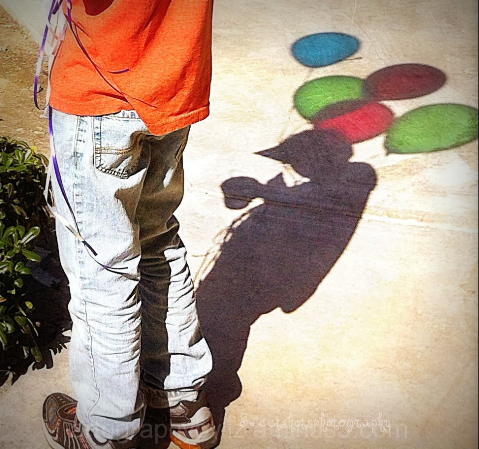 balloons in shadow