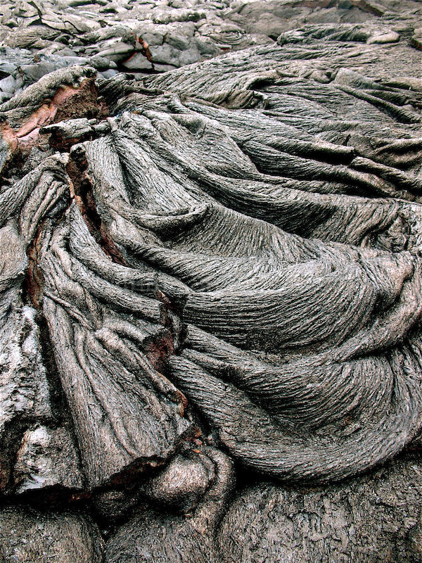 solidified lava formations