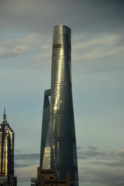 Sunset on the Shanghai Tower