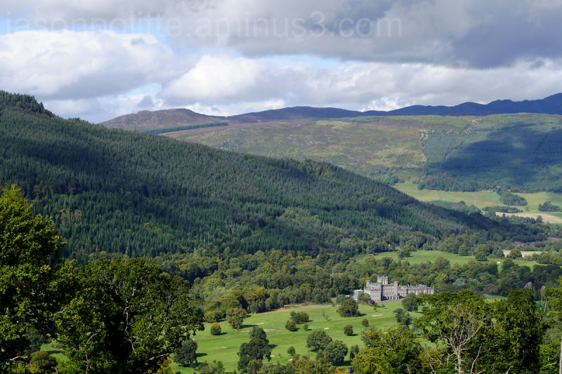 Taymouth Castle seen from above