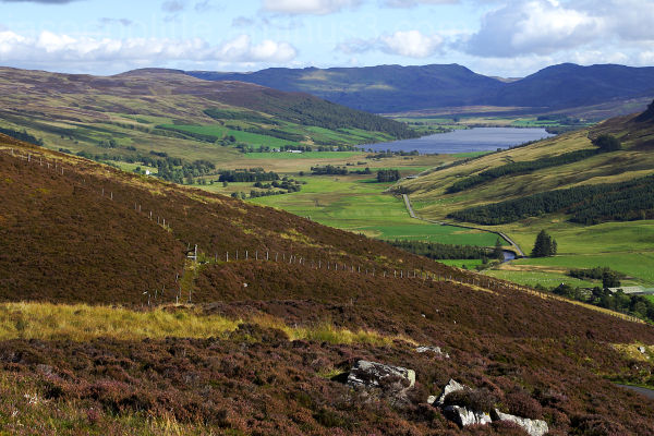 Looking down Glen Quaich toward Loch Freuchie