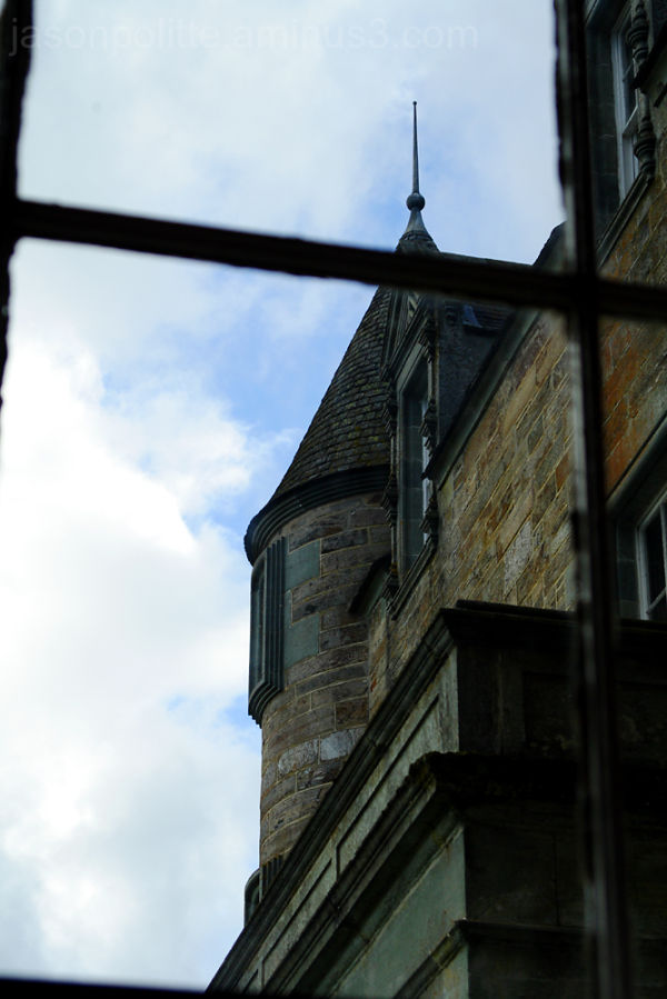 A look at one of the turretts of Castle Menzies
