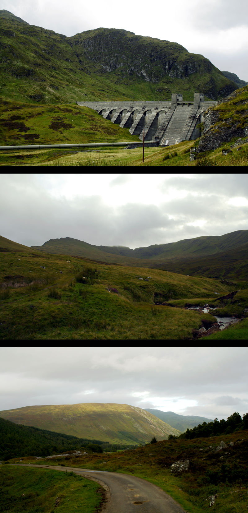 Montage of the Ben Lawers range and hydrodam