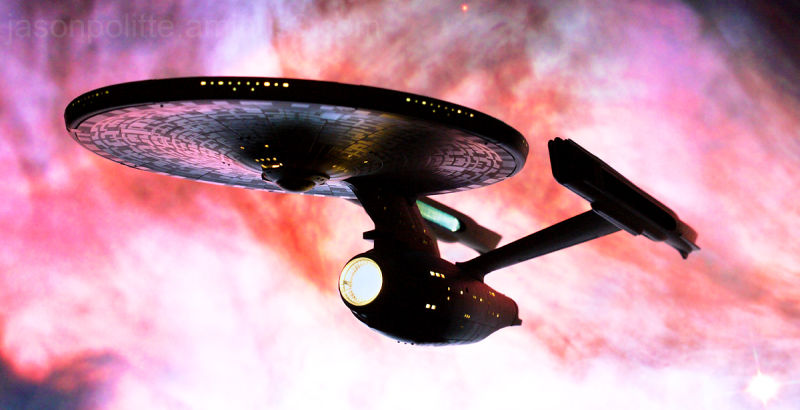 NCC-1701 U.S.S. Enterprise Refit with Orion Nebula
