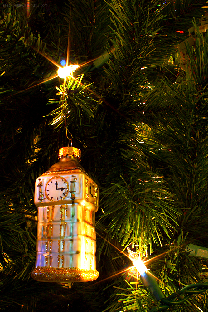Big Ben Christmas Tree Ornament