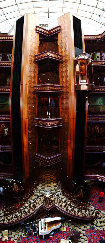 The Carnival Elation Atrium and Elevator