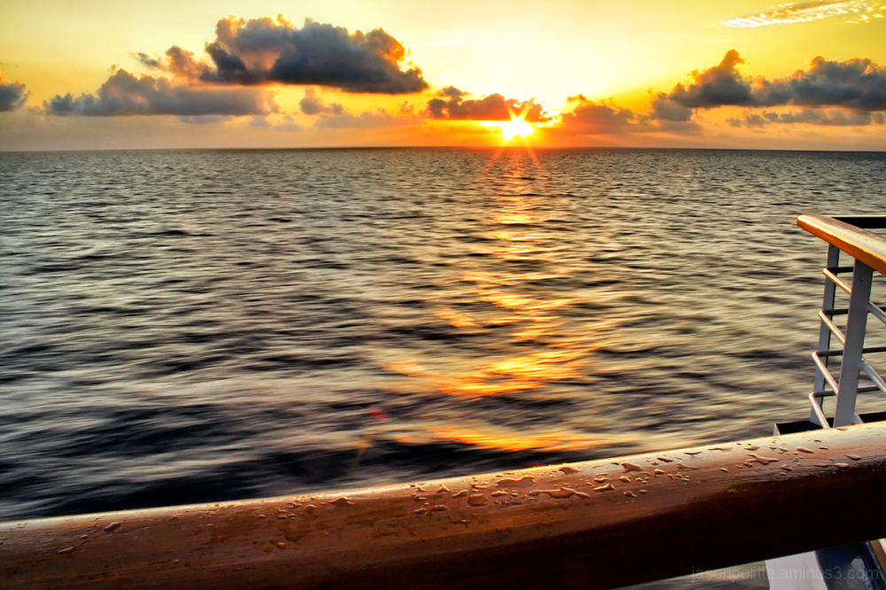 Sunrise at sea onboard the Carnival Elation