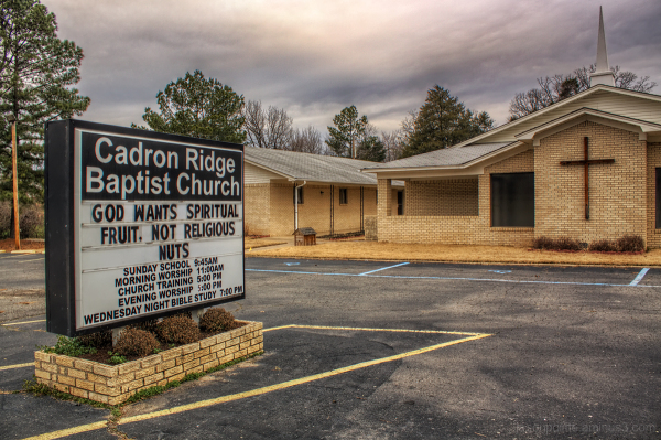 cadron ridge baptist church - no religious nuts