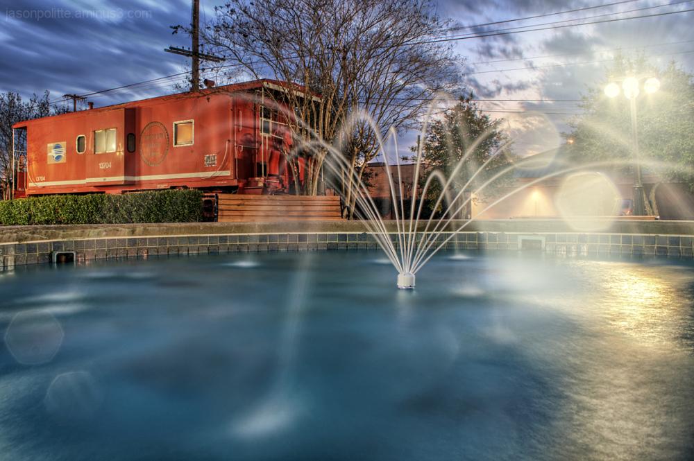 Nighttime at Simon Park in Conway, Arkansas