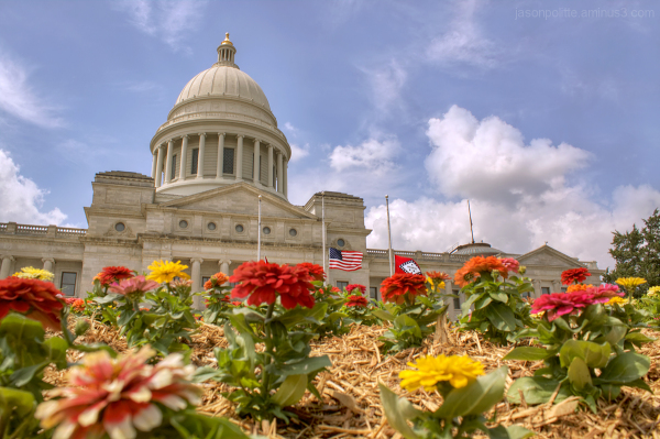 The Arkansas Capitol building in Little Rock