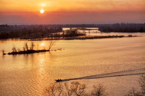 Fishing the Arkansas River at sunset