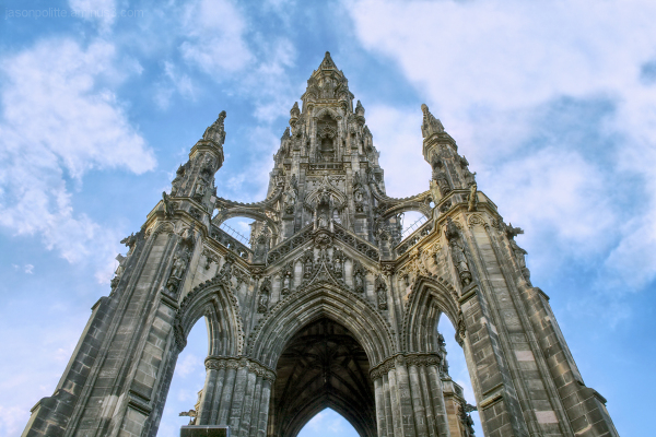 The Walter Scott Monument in Edinburgh, Scotland
