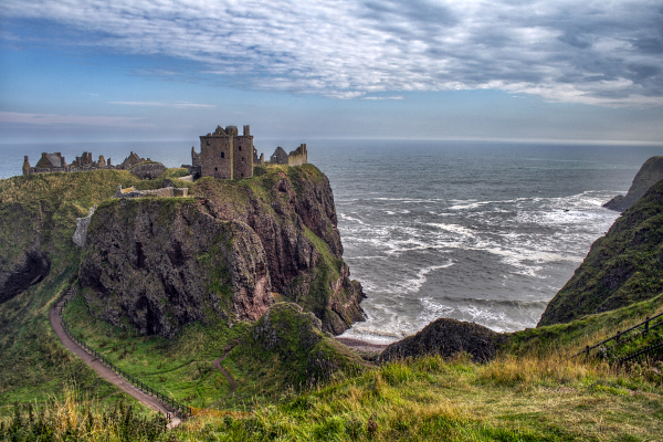 Dunnottar Castle along the Scotland Coast