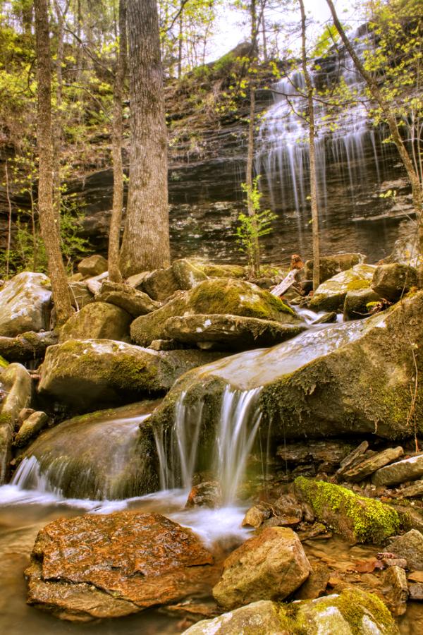 Bridal Veil Falls near Heber Springs, Arkansas