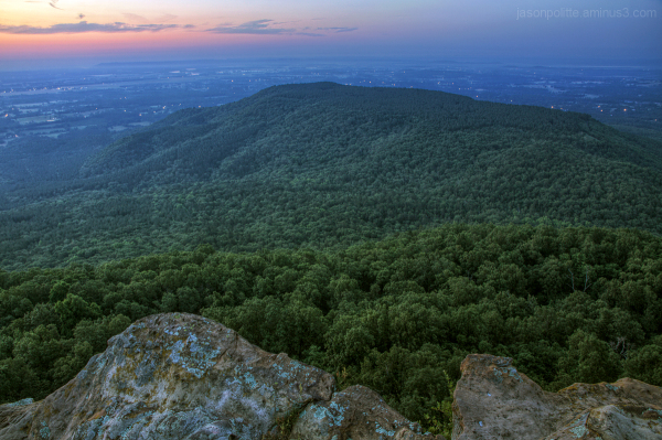 Predawn at Mt. Nebo State Park, Arkansas