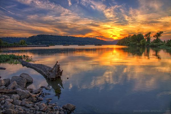 Sunset at Cook's Landing on the Arkansas River