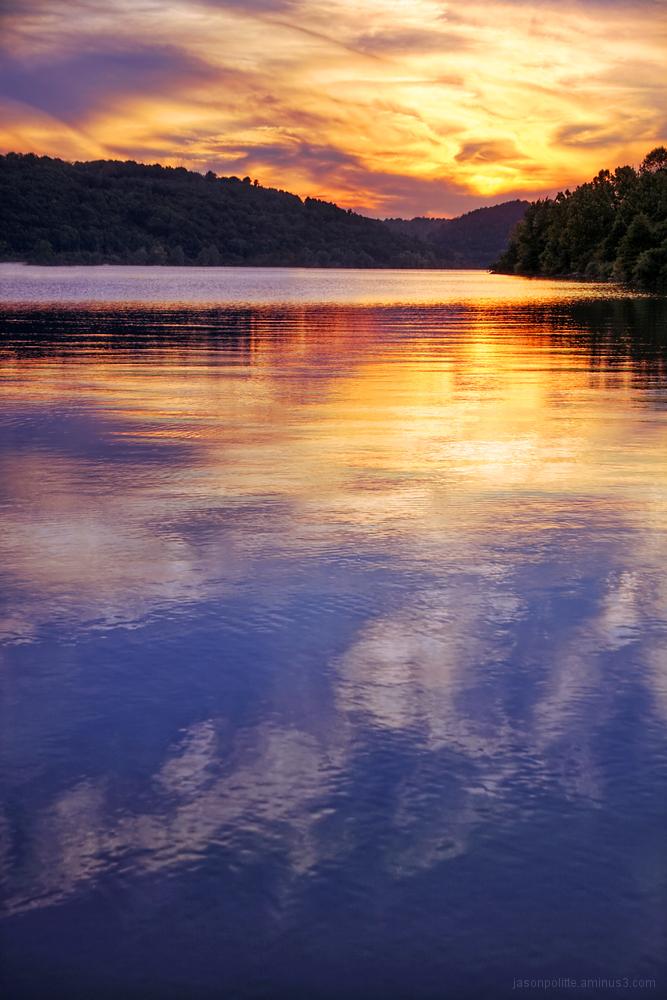 Sunset over the Arkansas River