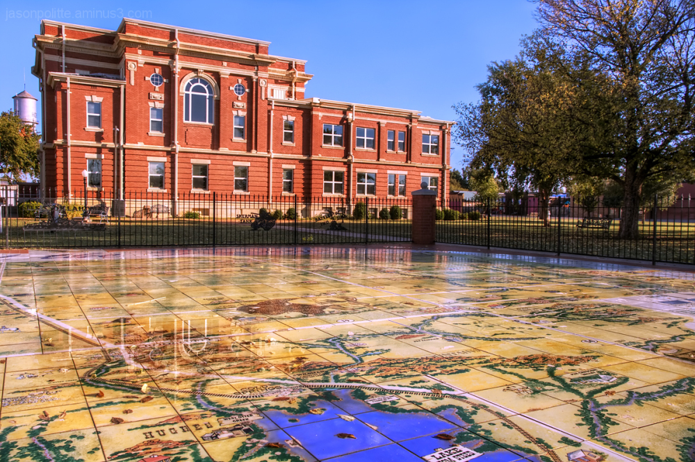 Kiowa County Courthouse with Mural