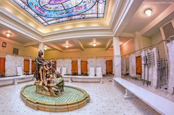 De Soto Fountain at Fordyce Bathhouse