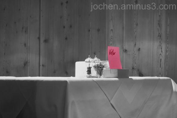"""""""Rotblick"""" im Restaurant"""