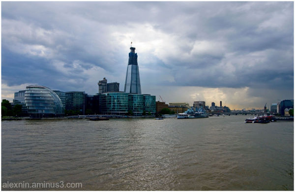 Thunderstorm over the Thames