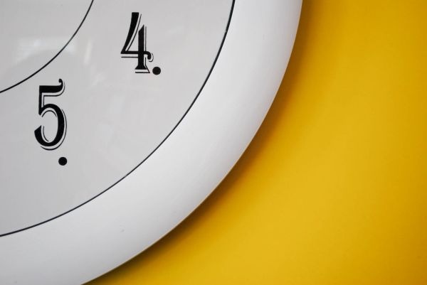Time, white and yellow