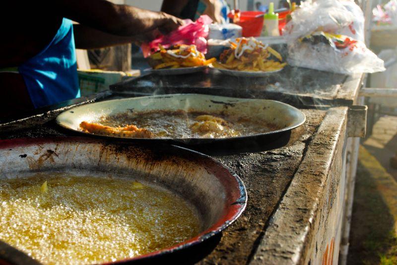 Leon Nicaragua oil pollo frita