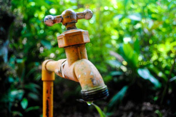 Drip water orange tap