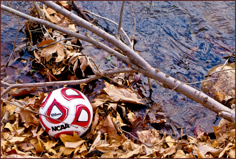 Lone ball along river