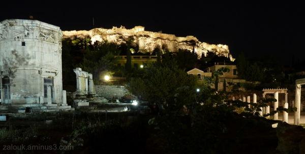 Nightfall in Roman Agora