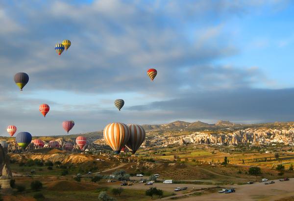 turquie montgolfière voyage couleurs ballon