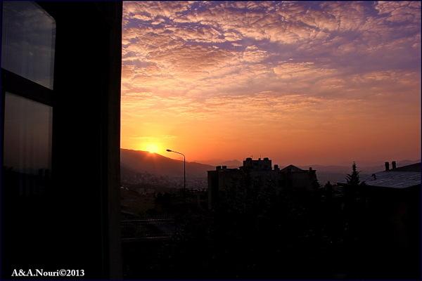 Tehran's sunrise