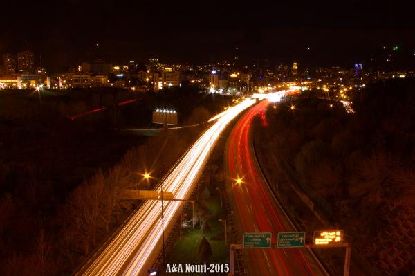 high view of Modarres highway