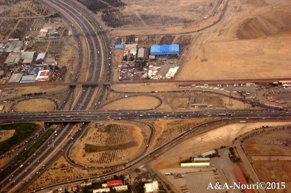 high viwe of Tehran Karaj highway