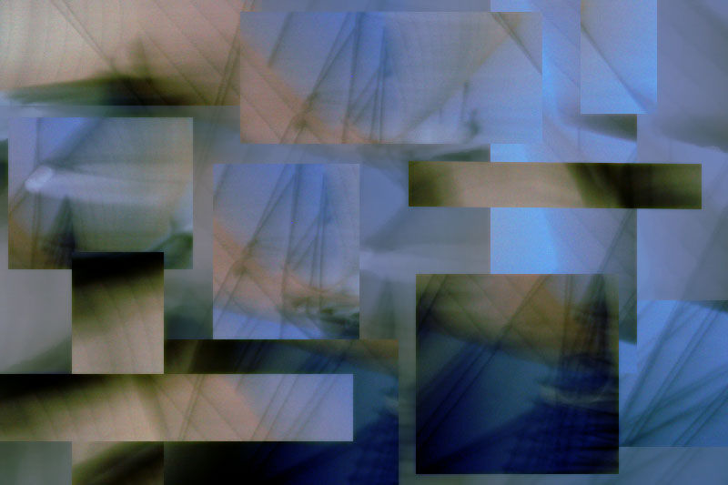 wreck geometrical collage