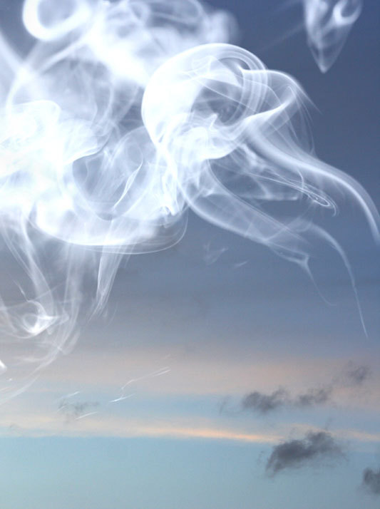 Sky and smoke