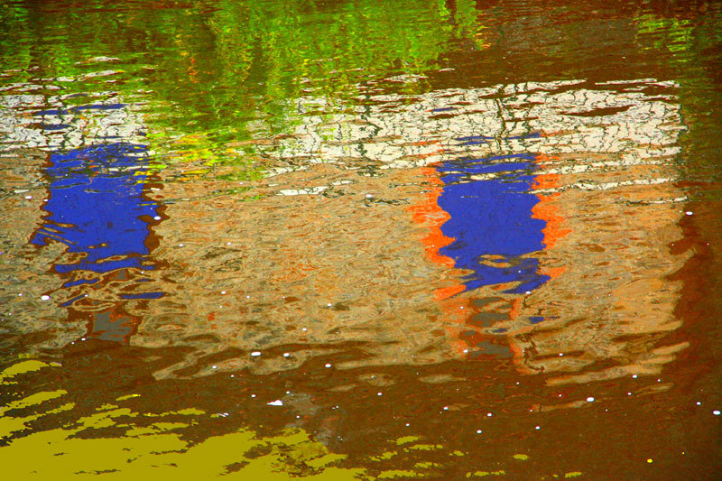 reflets reflections abstract