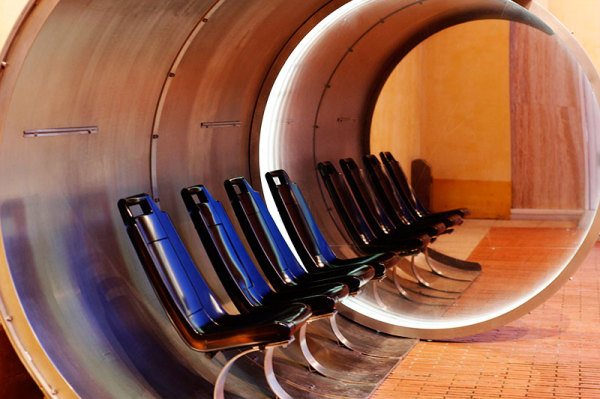 Seats in cylinder and their reflection