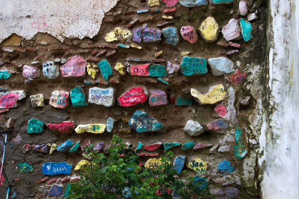 colourful written wall art Morocco